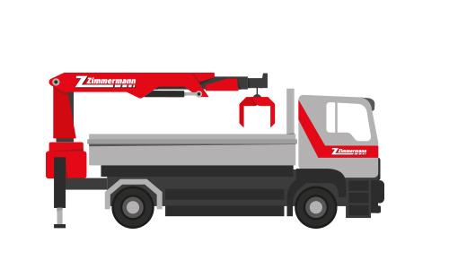 Lastwagen 2-Achser mit Kran