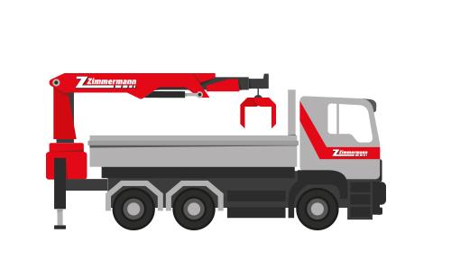 Lastwagen 3-Achser mit Kran