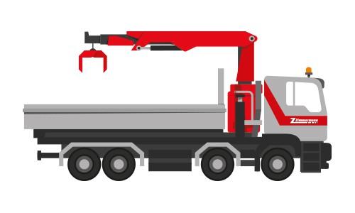 neu ab sofort: Lastwagen 4-Achser mit Kran